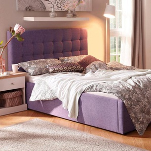 Home affaire Polsterbett, lila, 140x200cm, FSC-Zertifikat, »Hamar«, , , FSC®-zertifiziert