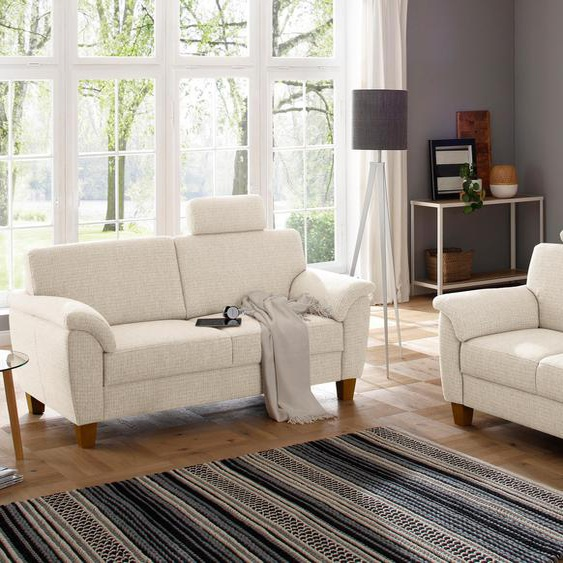 Polstergarnitur »Alta«, mit Federkern, FSC®-zertifiziert, Home affaire, beige, Material Buche, Holzwerkstoff, Polyester, Baumwolltuch,  atmungsaktiv, frei stellbar