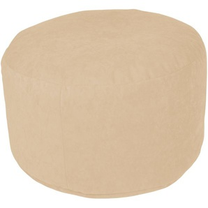 Home affaire Pouf 0, Microvelours, B/T/H: 47x47x34 cm braun Poufs Hocker