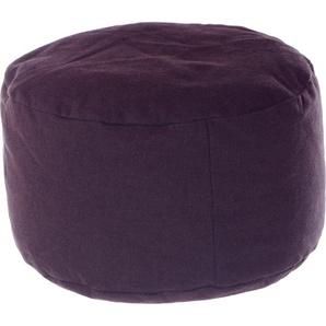 Home affaire Pouf »Bechar«, B/T/H: 47x47x34 cm, braun, Material Baumwolle / Stoff