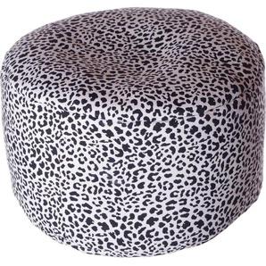 Home affaire Pouf Gepard 0, Baumwolle, B/T/H: 47x47x34 cm weiß Poufs Hocker