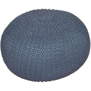 Home affaire Pouf, grau, Material Polyester