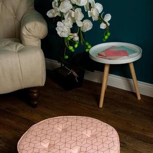 Home affaire Pouf »Nahla«, rosa, B/T/H: 50x50x21 cm