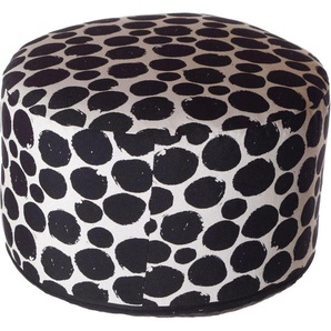 Home affaire Pouf »Punkte«, weiß, Material Baumwolle