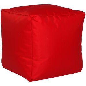 Home affaire Pouf, rot, Microfaser
