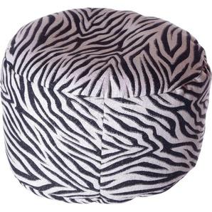 Home affaire Pouf Zebra 0, Baumwolle, B/T/H: 47x47x34 cm weiß Poufs Hocker