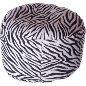 Home affaire Pouf »Zebra«, 47/34 cm