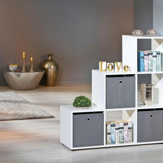 Raumteilerregal »Nullo«, 104.5x109x33 cm (BxHxT), FSC®-zertifiziert, Home affaire, Material Holzwerkstoff, Melamin, MDF