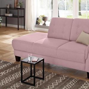 Home affaire Recamiere »Lillesand«, rosa, Armlehne rechts, 197cm, FSC®-zertifiziert