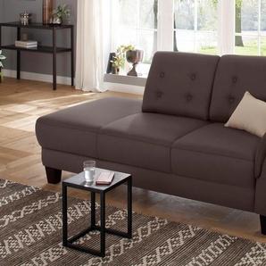 Home affaire Recamiere »Lillesand«, braun, Armlehne rechts, 197cm, FSC®-zertifiziert