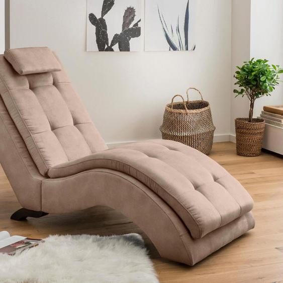 Home affaire Relaxliege Vengo Luxus-Microfaser, 70 cm beige Relaxliegen Sessel Sofas