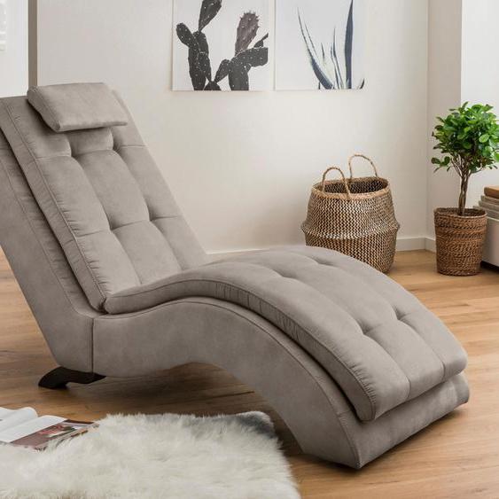 Home affaire Relaxliege Vengo Luxus-Microfaser, 70 cm grau Relaxliegen Sessel Sofas
