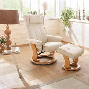 Home affaire Relaxsessel »Girona«, mit Drehfuß und Hocker