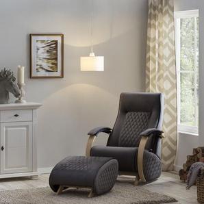 Home affaire Relaxsessel Hilmar, mit Schaukelfunktion und Schaukelhocker Samtvelours, B/H/T: 73 cm x 101 97 grau Weitere Sessel Wohnzimmer