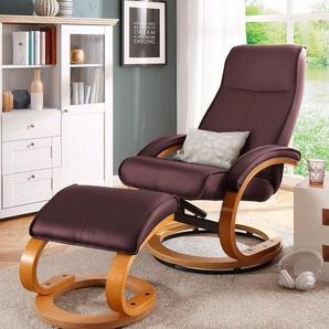 Home affaire Relaxsessel »Paris« (2-tlg., bestehend aus Sessel und Hocker), in unterschiedlichen Bezugs- und Farbvarianten, Sitzhöhe 46 cm