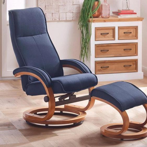 Home affaire Relaxsessel »Paris« (2-St., bestehend aus Sessel und Hocker), in unterschiedlichen Bezugs- und Farbvarianten, Sitzhöhe 46 cm