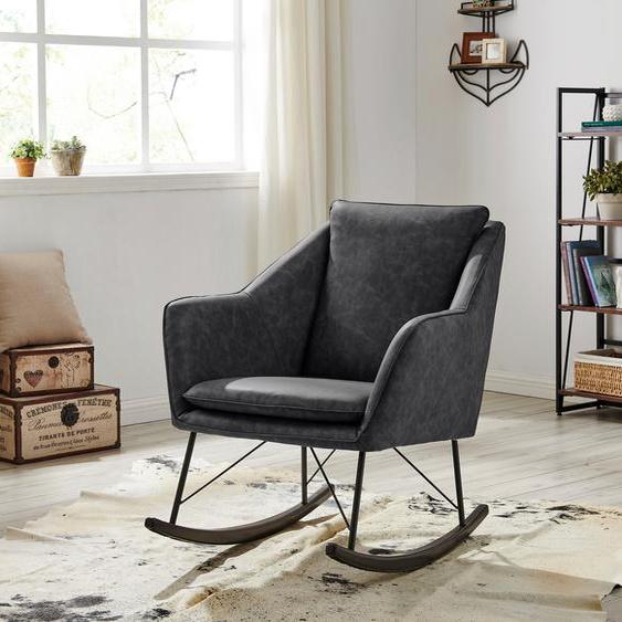 Home affaire Schaukel-Stuhl »Amelia«, aus schönem Kunstleder Bezug, in zwei unterschiedlichen Farbvarianten, Sitzhöhe 47 cm