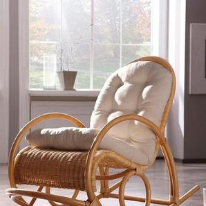 Home affaire Schaukelstuhl B/H/T: 60 cm x 100 116 cm, ohne Kissen beige Schaukelstühle Stühle Sitzbänke