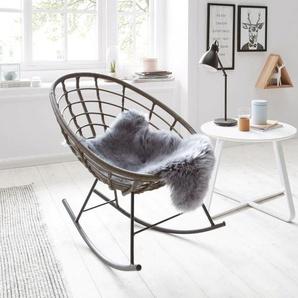 Home affaire Schaukelstuhl Einheitsgröße schwarz Schaukelstühle Stühle Sitzbänke