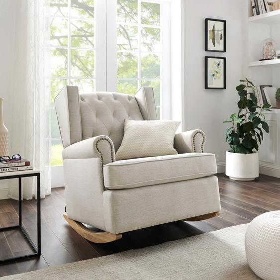 Schaukelstuhl »Genf«, 83x98x97.5 cm (BxHxT), FSC®-zertifiziert, Home affaire, mehrfarbig, Material Massivholz, Holzwerkstoff