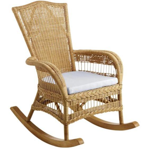 Home affaire Schaukelstuhl Ohne Kissen beige Rattanstühle Stühle Sitzbänke