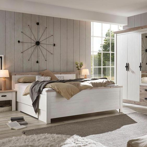 Home affaire Schlafzimmer-Set Florenz (ab Bettgröße 140cm. sind 2 Nachttische enthalten) 5-türiger Kleiderschrank weiß Komplett Schlafzimmer Betten Schlafzimmermöbel-Sets