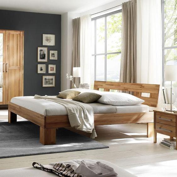 Home affaire Schlafzimmer-Set Modesty I (Set, 4-tlg) Kleiderschrank mit Spiegel beige Komplett Schlafzimmer Betten Schlafzimmermöbel-Sets