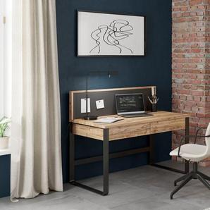 Home affaire Schreibtisch »IMST«, aus Massivholz mit Magnet_Paneel