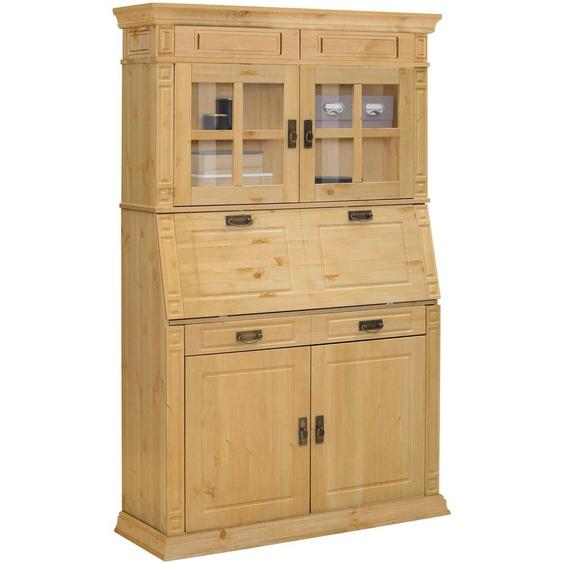 Sekretär »Vinales«, Landhaus-Stil, beige, Material Kiefer, Massivholz, Metall