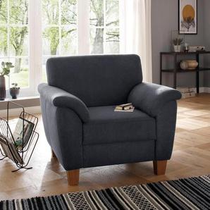 Home affaire Sessel »Alta«, mit Federkern und Kontrastnaht, Füße Buche eichefarben