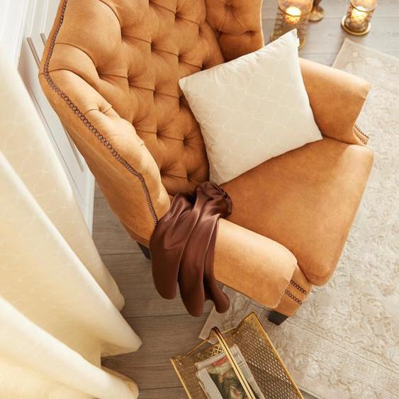 Home affaire Sessel »Bedford«, braun, Material Naturleder, 46 cm, 46 cm