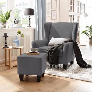Home affaire Sessel mit Hocker, »Chilly«, FSC®-zertifiziert
