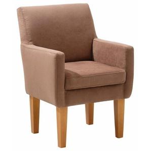 Home affaire Sessel »Fehmarn«, komfortable Sitzhöhe von 54 cm, in 3 verschiedenen Bezugsqualitäten