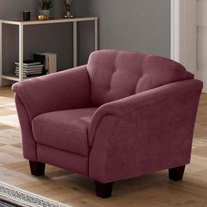 Home affaire Sessel »Lillesand«, mit Federkern, Knopfheftung im Rücken, Füße Buche
