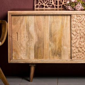 Home affaire Sideboard »Tyrion«, 160x45x85 cm, Landhaus-Stil, orange