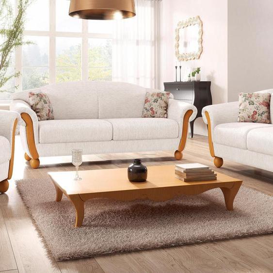 Sitzgruppe »Milano«, mit Federkern, FSC®-zertifiziert, Home affaire, beige, Material Holzwerkstoff, Blumenmuster