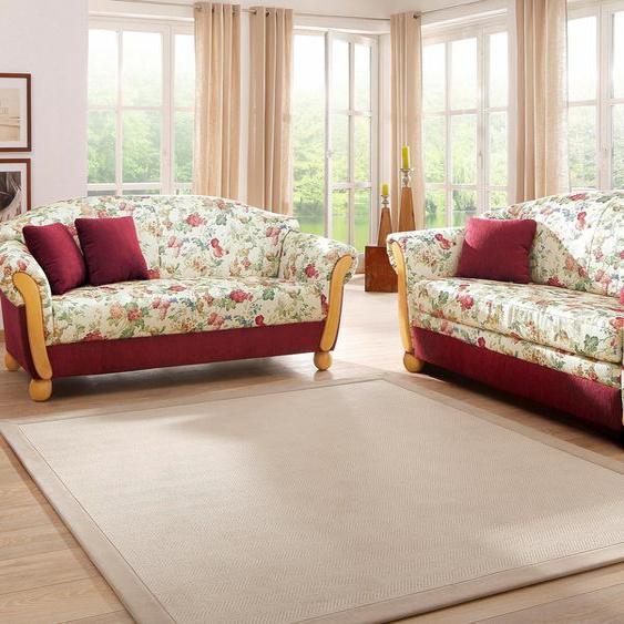 Sitzgruppe »Milano«, mit Federkern, FSC®-zertifiziert, Home affaire, rot, Material Holzwerkstoff, Blumenmuster
