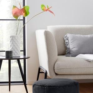 Home affaire Sitzhocker, grau, Material Polyester