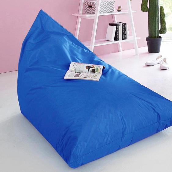 Home affaire  Sitzsack, B/T/H: 70x140x100 cm, blau, schmutzabweisend