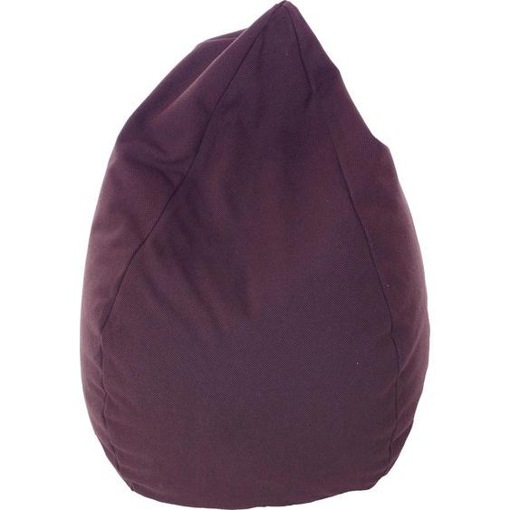 Home affaire Sitzsack »Katar«, B/T/H: 50x50x90 cm, braun, Material Stoff