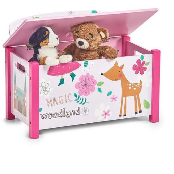 Home affaire Sitztruhe Girly 67cm rosa Kinder Kinderstühle Kindermöbel Sitzbänke