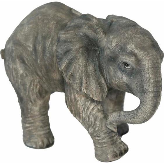 Home affaire Spardose Elefant laufend, Breite ca. 25cm, Höhe 17cm Einheitsgröße grau Gartenfiguren Gartendekoration Gartenmöbel Gartendeko Dekofiguren
