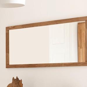 Home affaire Spiegel Kristian, Rahmen Eiche massiv B/H/T: 130 cm x 49 2 beige Kleinmöbel Nachhaltige Möbel