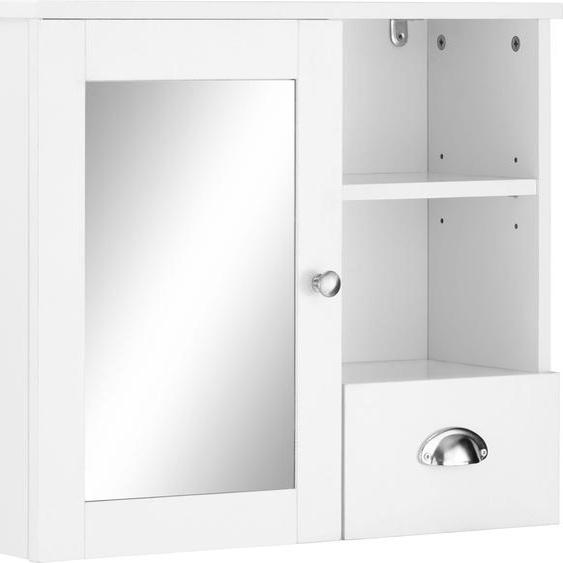 Home affaire Spiegelschrank Kira B/H/T: 60 cm x 50 22 cm, 1 weiß Badschränke Schränke Nachhaltige Möbel