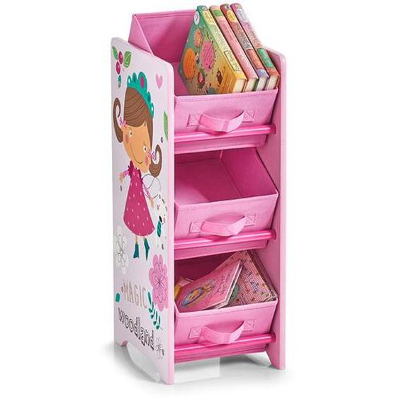 Home affaire Standregal Girly 30x23,5x65 cm rosa Kinder Kinderregale Kindermöbel Regale