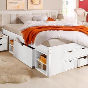 Home affaire Stauraumbett, weiß, 140x200 cm, FSC-Zertifikat, , , mit Schubkästen, FSC®-zertifiziert
