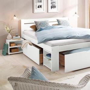 Home affaire Stauraumbett Hannes TOPSELLER Liegefläche B/L: 140 cm x 200 cm, kein Härtegrad weiß Doppelbetten Betten