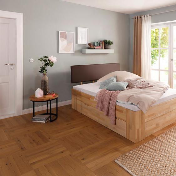 Home affaire Stauraumbett Venezia 140x200 cm Höhe Bettseite: 45 braun Massivholzbetten Betten