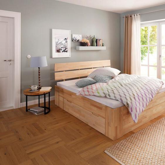 Home affaire Stauraumbett Venezia 180x200 cm Höhe Bettseite: 45 braun Massivholzbetten Betten