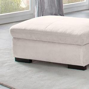 Home affaire Stauraumhocker Alberto 0, Luxus-Microfaser ALTARA NUBUCK® beige Sitzhocker Hocker